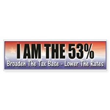 I Am The 53% Bumper Bumper Bumper Sticker