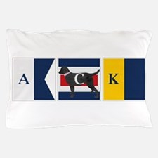 Preppy Lab Dog ACK Signal Flag Pillow Case