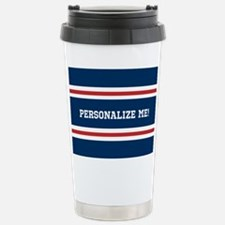 Red and White on Blue S Travel Mug