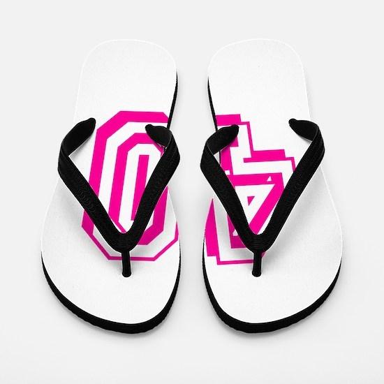 40 Pink Birthday Flip Flops