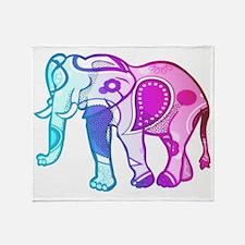 Cool Christmas elephant Throw Blanket