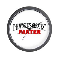 """""""The World's Greatest Farter"""" Wall Clock"""