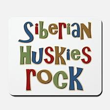 Siberian Huskies Rock Dog Lover Mousepad