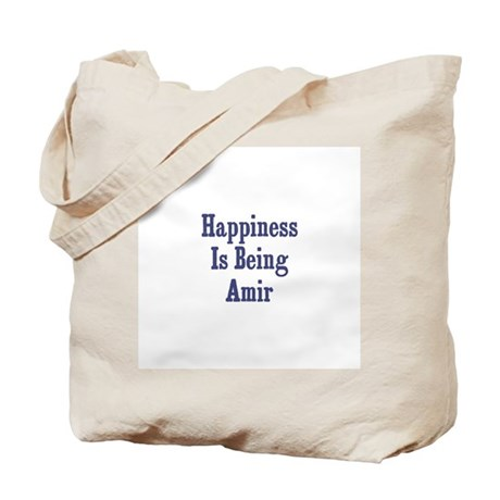 Happiness is being Amir Tote Bag