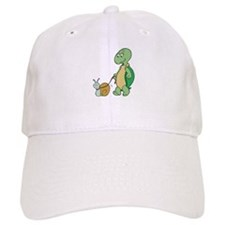 Turtle With Pet Snail Baseball Cap