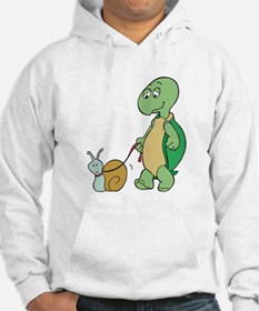 Turtle With Pet Snail Hoodie