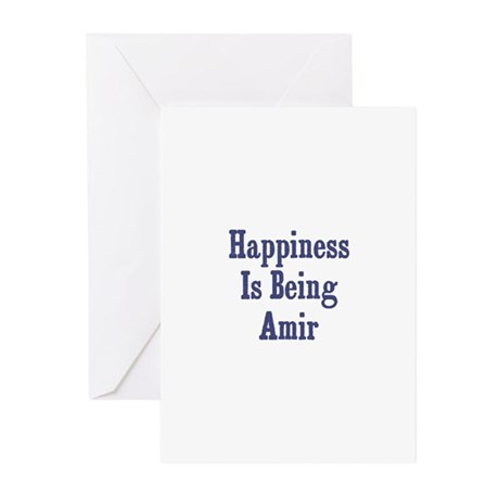Happiness is being Amir Greeting Cards (Pk of 10)