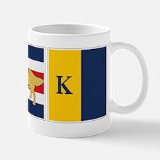 Preppy Dog Golden ACK Signal Flag Mug