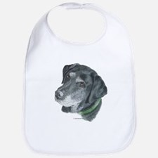 Senior Black Lab Bib