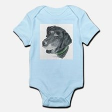Senior Black Lab Infant Creeper