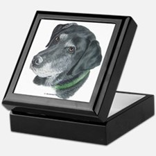 Senior Black Lab Keepsake Box