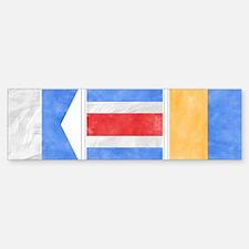 "Nantucket ""ACK"" Signal Flag Sticker (Bumper)"