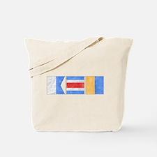 "Nantucket ""ACK"" Signal Flag Tote Bag"