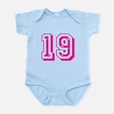 19 Pink Birthday Infant Bodysuit