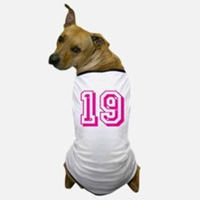 19 Pink Birthday Dog T-Shirt
