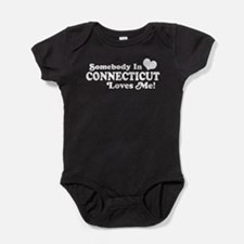 Cute State of connecticut Baby Bodysuit