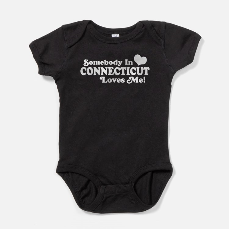 Cute Someone in connecticut loves me Baby Bodysuit