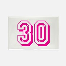 30 Pink Birthday Rectangle Magnet