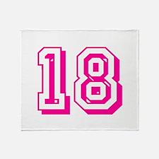 18 Pink Birthday Throw Blanket