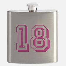 18 Pink Birthday Flask