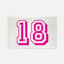 18 Pink Birthday Rectangle Magnet