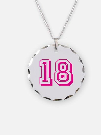 18 Pink Birthday Necklace