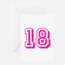 18 Pink Birthday Greeting Card