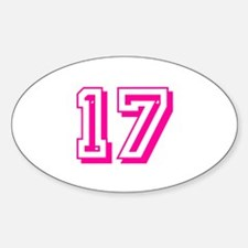 17 Pink Birthday Decal