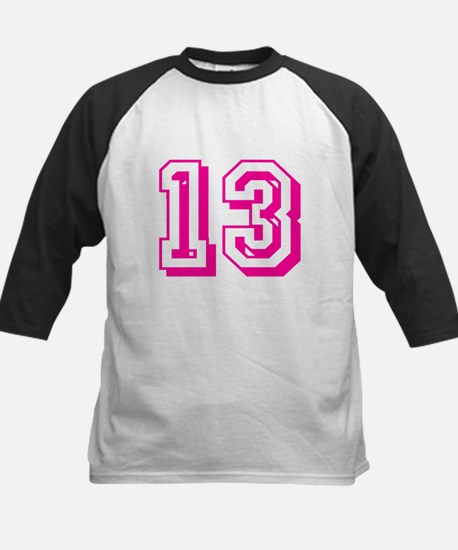 13 Pink Birthday Kids Baseball Jersey