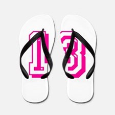 13 Pink Birthday Flip Flops