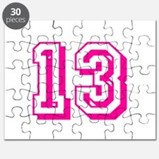 13 Pink Birthday Puzzle