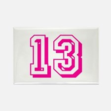 13 Pink Birthday Rectangle Magnet