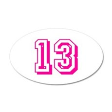 13 Pink Birthday Wall Decal