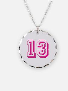 13 Pink Birthday Necklace