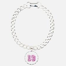 13 Pink Birthday Bracelet