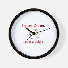 Josh & Grandma - Buddies Wall Clock