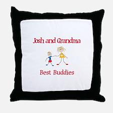 Josh & Grandma - Buddies Throw Pillow