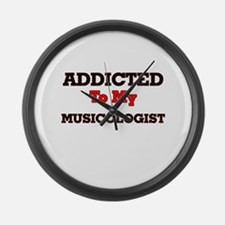 Addicted to my Musicologist Large Wall Clock