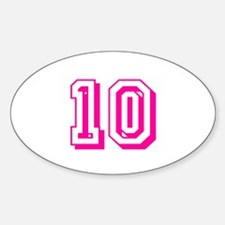 10 Pink Birthday Decal
