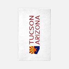 Arizona: Tucson (State Shape & Flag) Area Rug