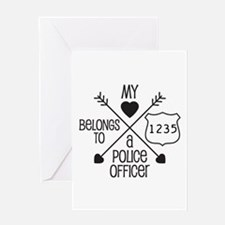 My Heart Belongs to a Police Officer Greeting Card