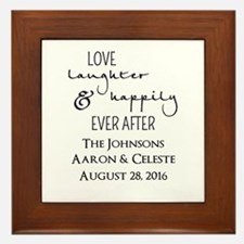 Love Laughter and Happily Ever After Framed Tile