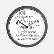 Love Laughter and Happily Ever After Wall Clock