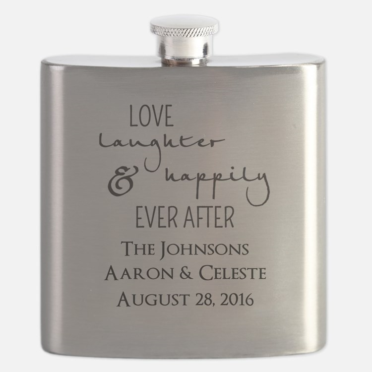 Love Laughter and Happily Ever After Flask