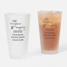 Love Laughter and Happily Ever After Drinking Glas