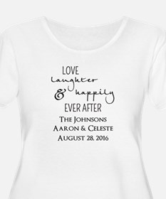 Love Laughter and Happily Ever After Plus Size T-S