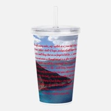 Stop, Look, and Listen Acrylic Double-wall Tumbler