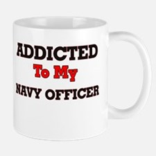 Addicted to my Navy Officer Mugs