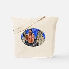 Long Braid Native American Tote Bag