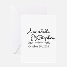 Couples Names Wedding Personalized Greeting Cards